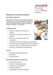 Elektroniker/in für Geräte und Systeme - Berufsbildungswerk