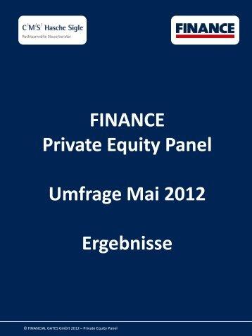 FINANCE Private Equity Panel - Umfrage Mai 2012 - Finance Magazin