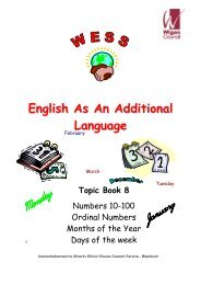 English As An Additional Language - Wigan Schools Online