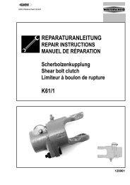 REPARATURANLEITUNG K61/1 - AGCO