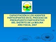 Capacitación a los Agentes Participantes para el Proceso del ...