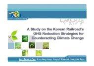 Korean Railroad's CO2 Reduction Strategies