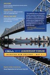 2013 LEADERSHIP FORUM - CMAA