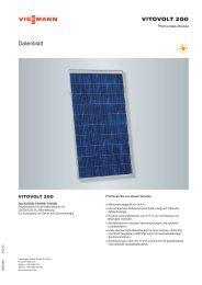 VITOVOLT 200 Datenblatt - Viessmann