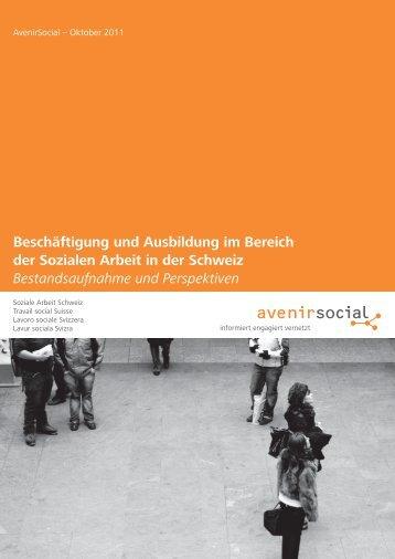 Beschäftigung und Ausbildung im Bereich der ... - AvenirSocial