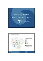 (Microsoft PowerPoint - Demenssjukdomar 2012-09-06 ... - GR