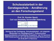 Schulsozialarbeit in der Ganztagsschule - GEW Niedersachsen