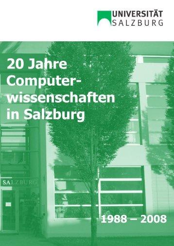 20 Jahre Computer- wissenschaften in Salzburg
