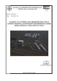 Zahtjev za utvrđivanje objedinjenih uvjeta zaštite okoliša