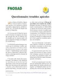 Questionnaire troubles apicoles