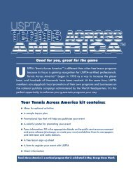 Program guide - United States Professional Tennis Association