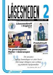 ELF Locksmith Convention 2000 - Foreningen Norske Låsesmeder