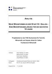 Analyse Neue Wohnformen in der Stadt St.Gallen