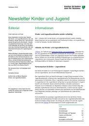 Newsletter Kinder und Jugend - Amt für Soziales - Kanton St.Gallen