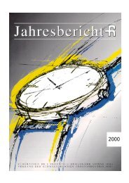 FH Jahresbericht 2000 - Federation of the Swiss Watch Industry FH