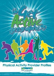 Physical Activity Provider Profiles