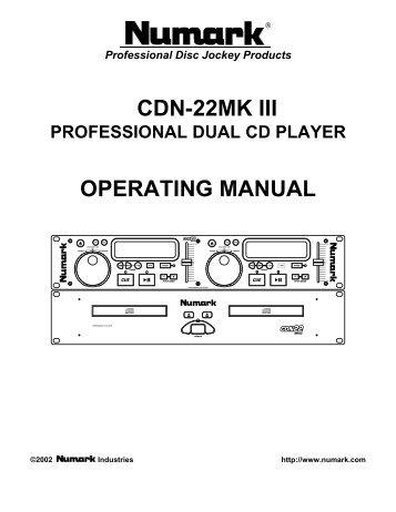 CDN-22 MK III - Numark