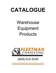 gantr y and jib cranes - Fleetman Consulting Inc.