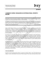 lundbeck korea: managing an international growth engine
