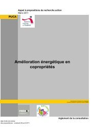 Amélioration énergétique en copropriétés - Ministère du ...