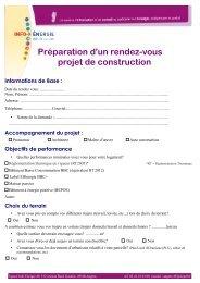 Préparation d'un rendez-vous projet de construction - Espace Info ...