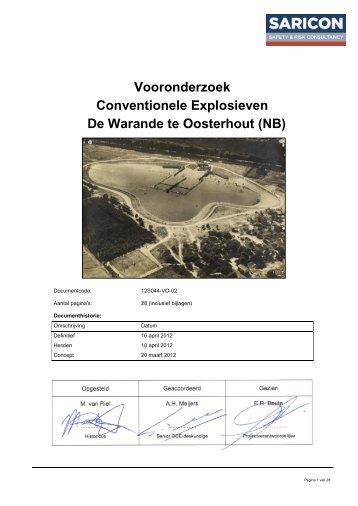 Bijlage 2 Vooronderzoek Conventionele Explosieven d.d. 16 april ...