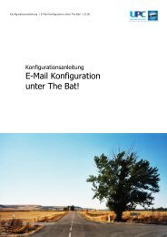 E-Mail Konfiguration unter The Bat! - inode.at