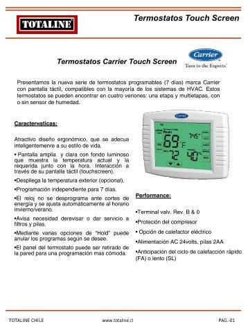 Termostatos Tousch Screen.pdf - Totaline Chile
