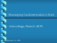 Managing Cardiometabolic Risk - Free CE Continuing Education ...