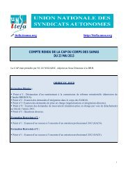 CAP SAMAS du 23 mai 2013 - UNSA-Itefa