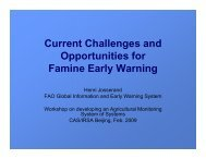 Current Challenges and Opportunities for Famine Early Warning