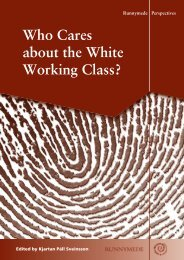 Who Cares about the White Working Class ( pdf ) - Runnymede Trust