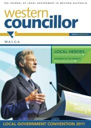 LOCAL GOVERNMENT CONVENTION 2011 LOCAL HEROES - walga