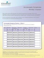 acromegaly Symptom tracker—Week 1 - PfizerPro