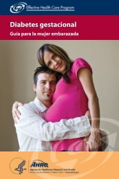 Diabetes gestacional - AHRQ Effective Health Care Program
