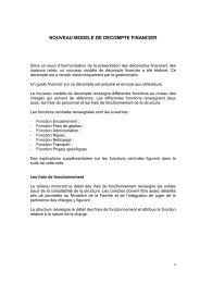 Sommaire explications nouveau modèle décompte 02 08 2012