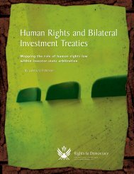 Human Rights and Bilateral Investment Treaties - Publications du ...
