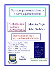 Matthias Vojta Subir Sachdev Quantum phase transitions in d-wave ...