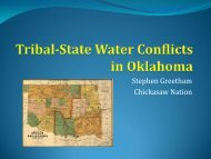 Tribal-State Water Conflicts in Oklahoma - Water Resources Board