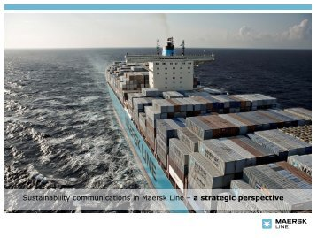 Sustainability communications in Maersk Line – a strategic perspective