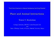 Plant and Animal Interactions