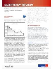 EUR Résumé du 1 trimestre Les perspectives de l'EUR - Travelex