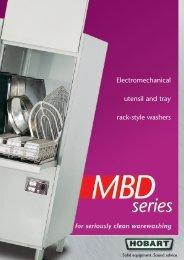 Electromechanical utensil and tray rack-style washers - Hobart Food ...