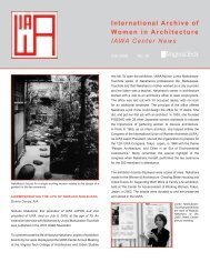 International Archive of Women in Architecture IAWA Center News
