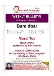 22) Bamidbar.pub - Emanuel Synagogue