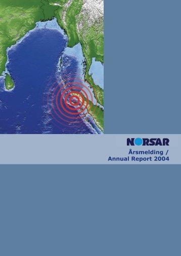Årsmelding / Annual Report 2004 - norsar