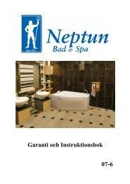 Installationsanvisning Neptun massagebadkar 2007