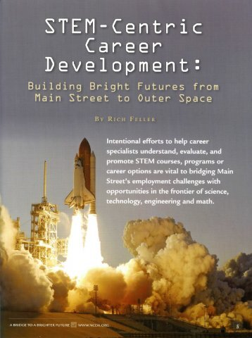 Building Bright Futures from Main Street to Outer Space - Stem Career