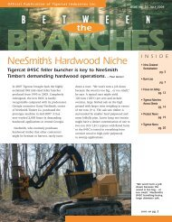 NeeSmith's Hardwood Niche - Tigercat Industries Inc.