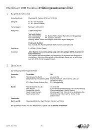Merkblatt ZHM Fussball Frühlingssemester 2012 - ASVZ